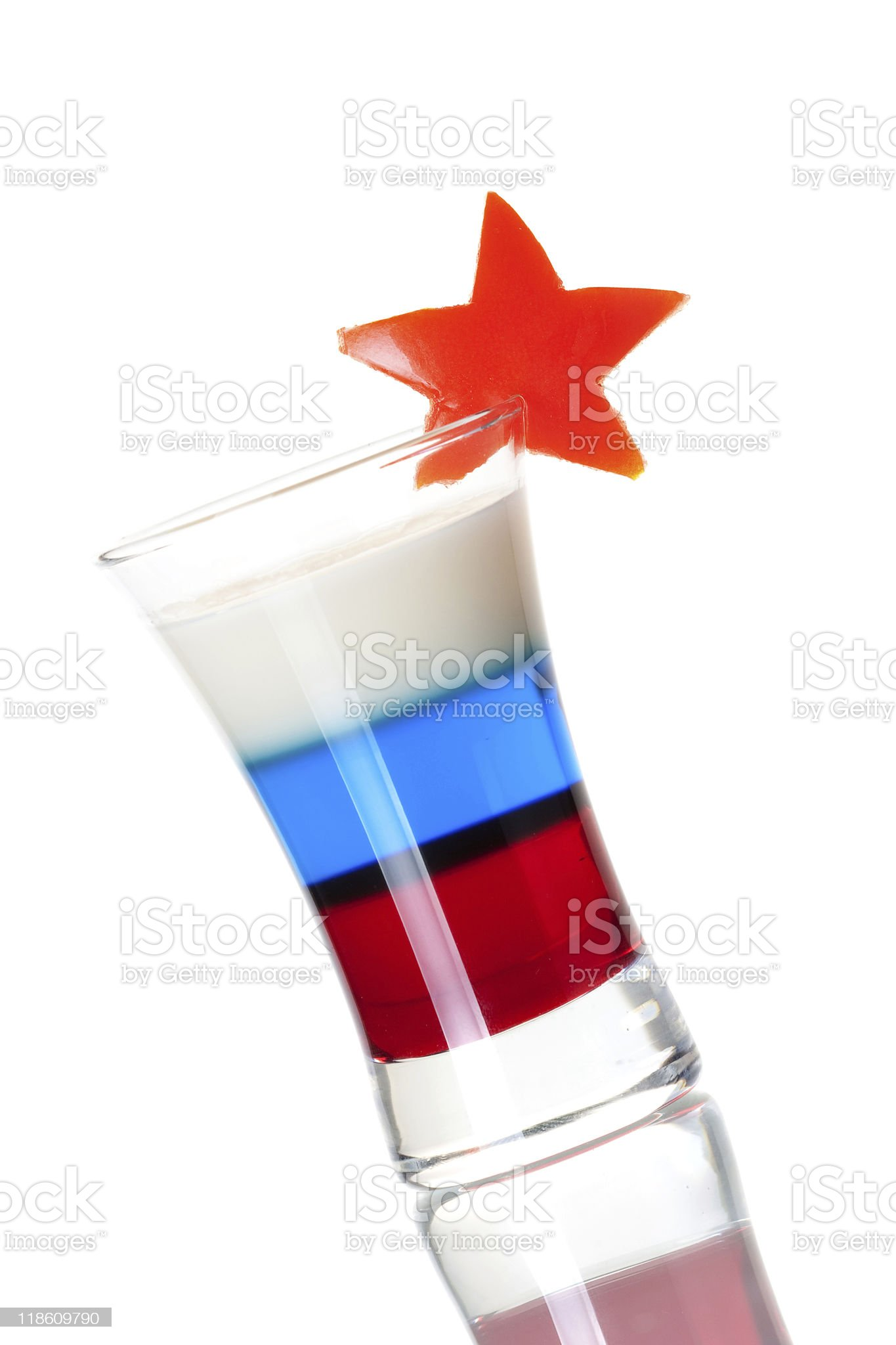 Shot cocktail collection: Russian Flag royalty-free stock photo