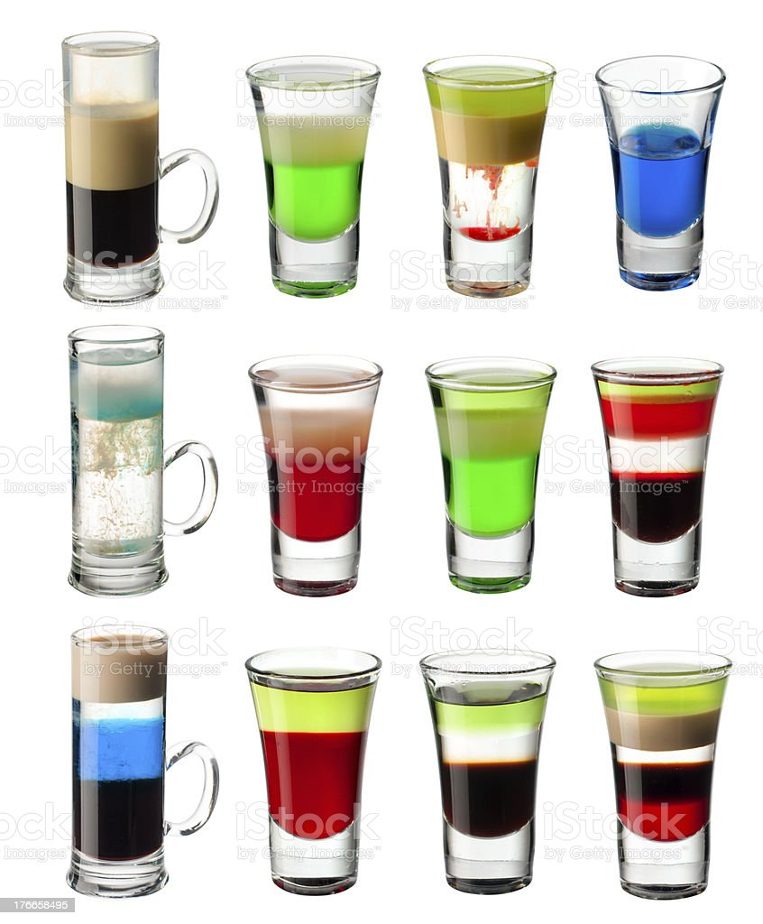 shot cocktail  set royalty-free stock photo