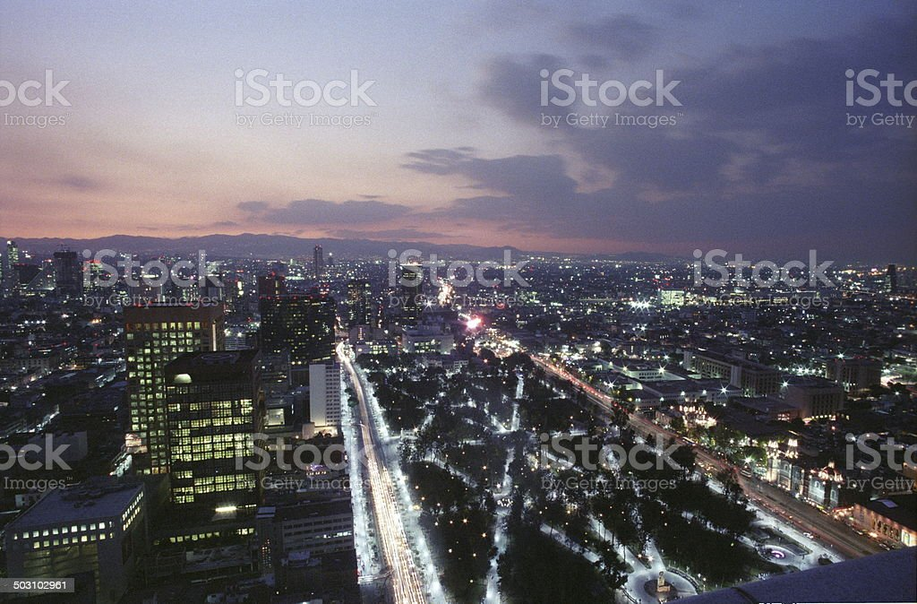 shot from above, Mexico City, Mexico stock photo