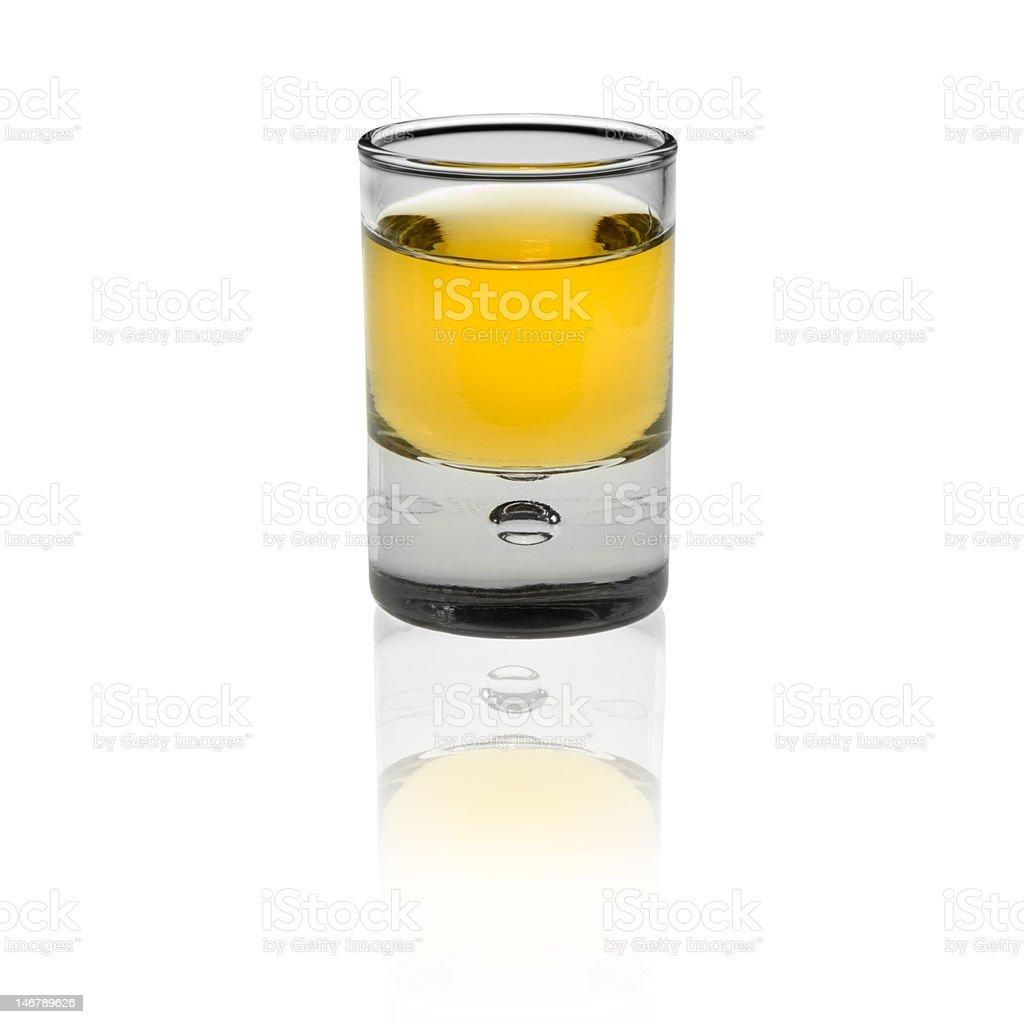 shot glas isolated on white background royalty-free stock photo