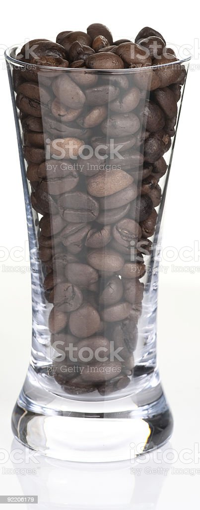 Shot glass and coffee, back lit royalty-free stock photo