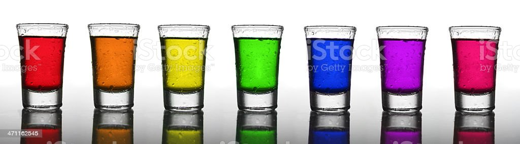 Shot Glass Rainbow, Misted royalty-free stock photo