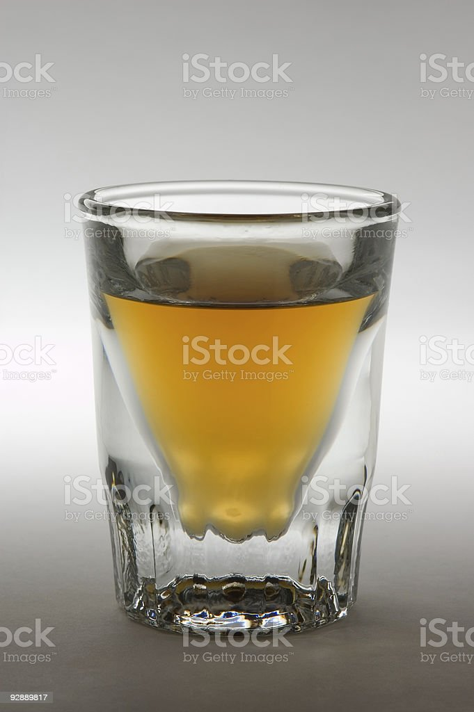 Shot Glass with Liquor royalty-free stock photo