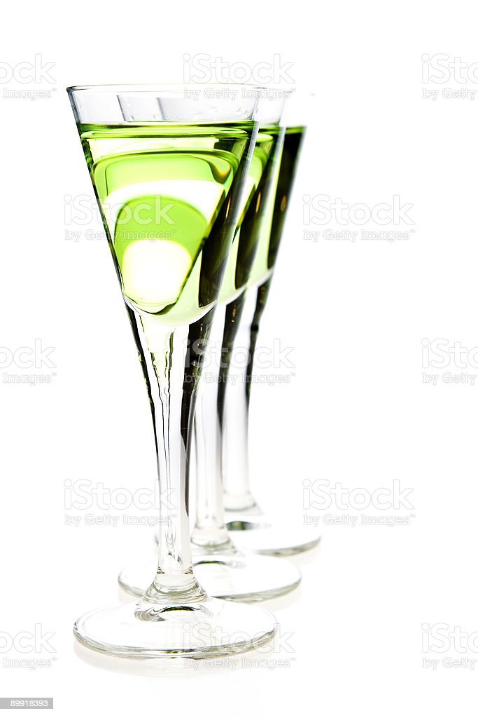 shot glasses of liqueur royalty-free stock photo