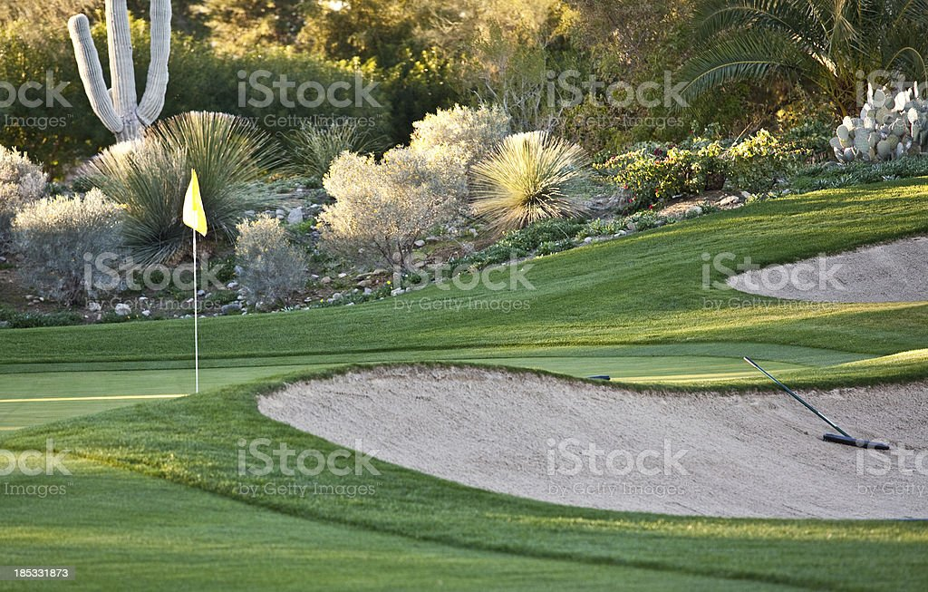 A shot of a beautiful desert gold course royalty-free stock photo