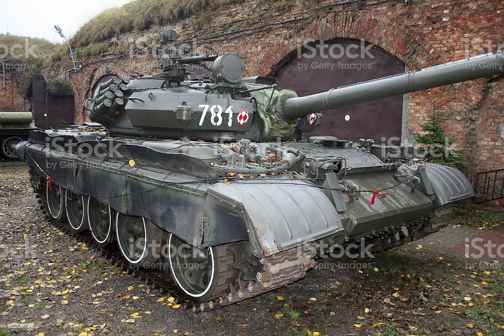 Shot of a military tank royalty-free stock photo
