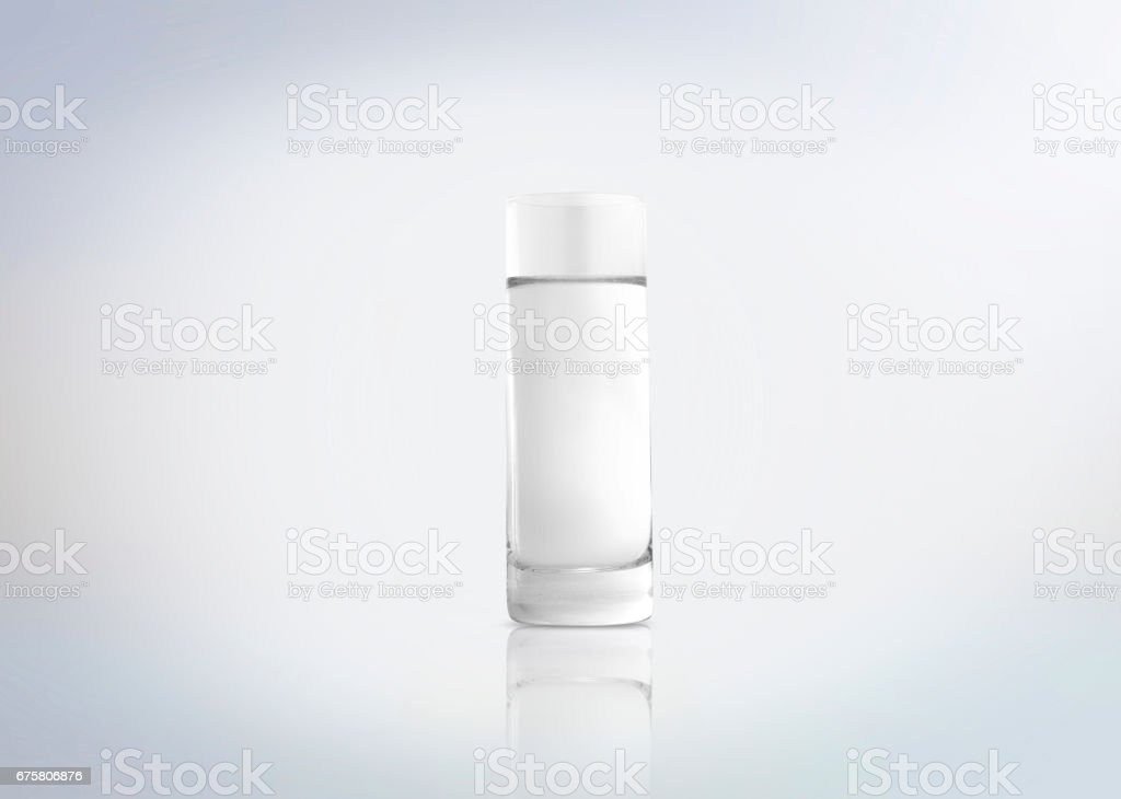 Shot of a russian vodka in a traditional drink glass. Alcoholic distilled beverage from Russia. stock photo
