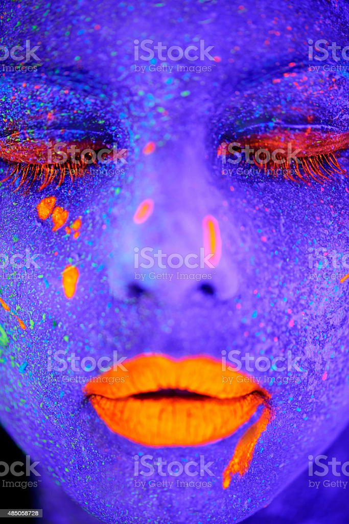 Glowing goddess stock photo