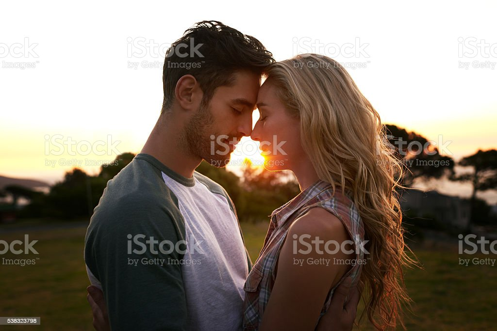 Turning up the romance stock photo
