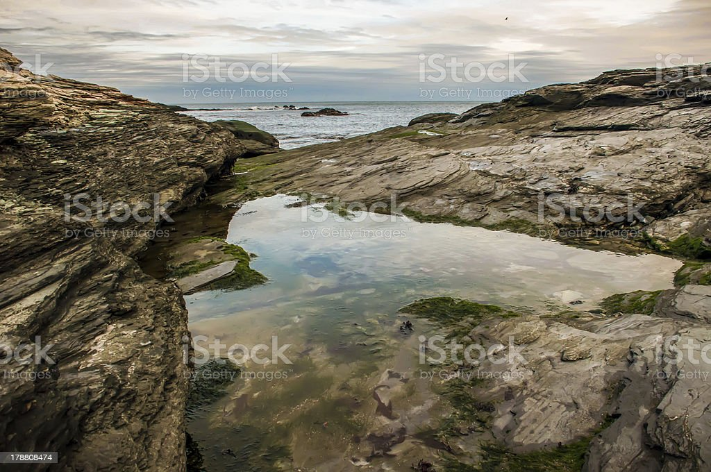 shot of an early morning aquidneck island, newport, ri stock photo