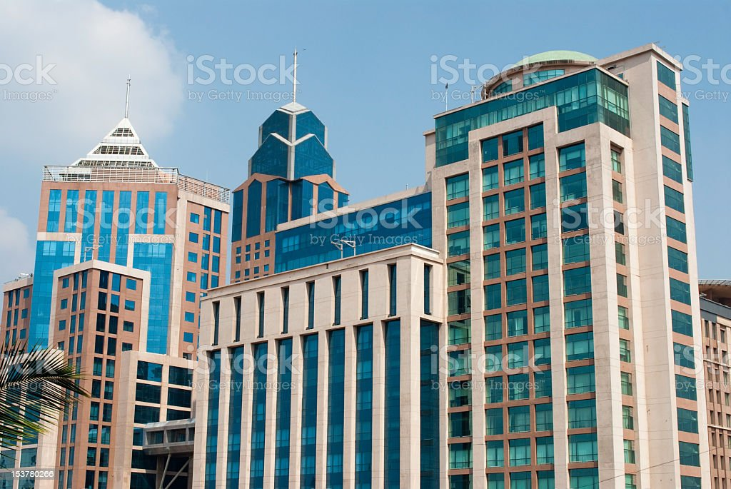 Shot of buildings in Bangalore stock photo