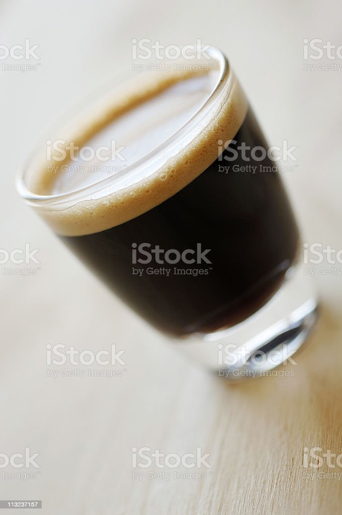 Shot of espresso coffee royalty-free stock photo