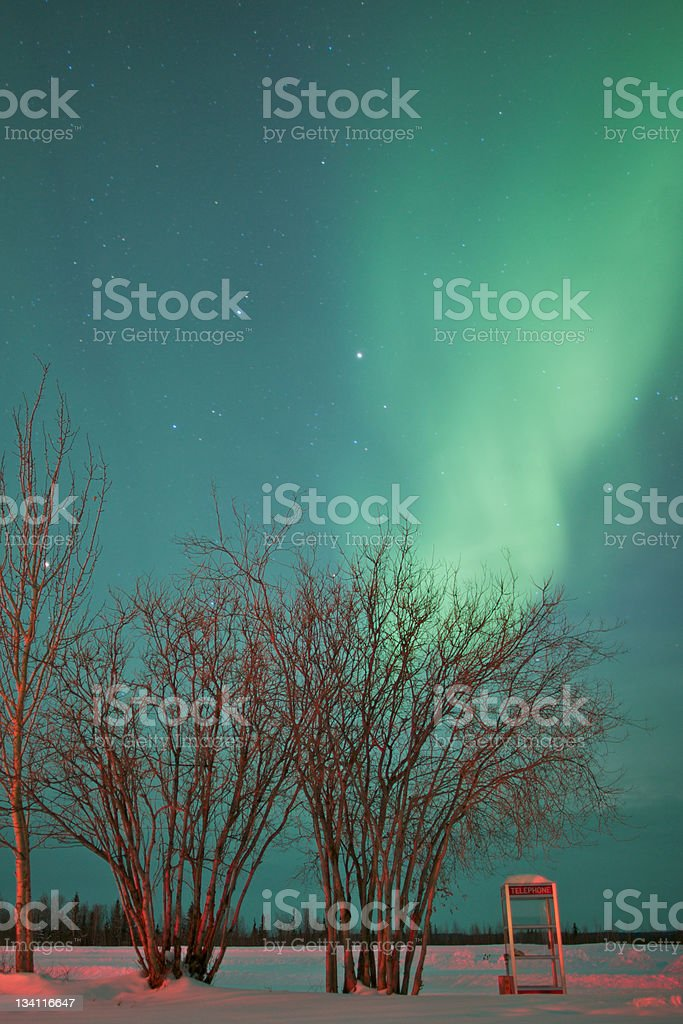 Shot of Northern Lights in Sky royalty-free stock photo