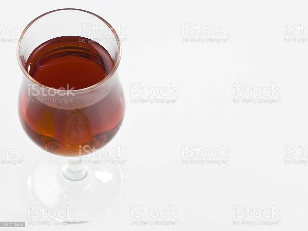 Shot of Porto wine stock photo