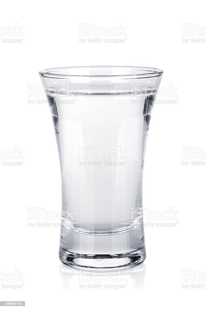 Shot of russian vodka stock photo