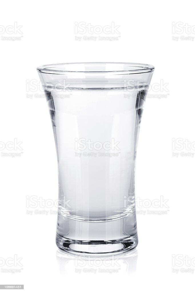Shot of russian vodka stock photo