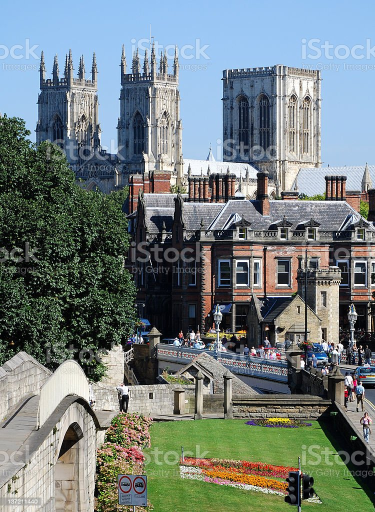 A shot of the city of York in summer stock photo