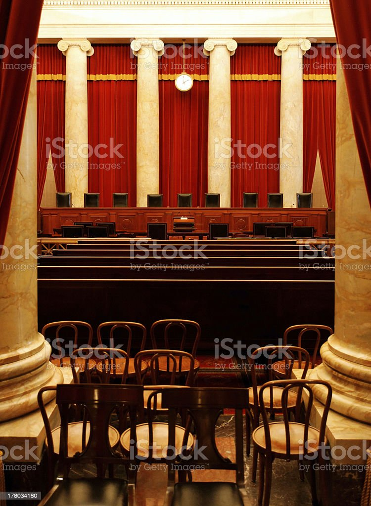 A shot of the Supreme Court of the United States of America stock photo