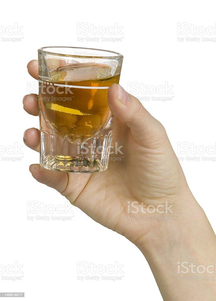 Shot of whiskey royalty-free stock photo