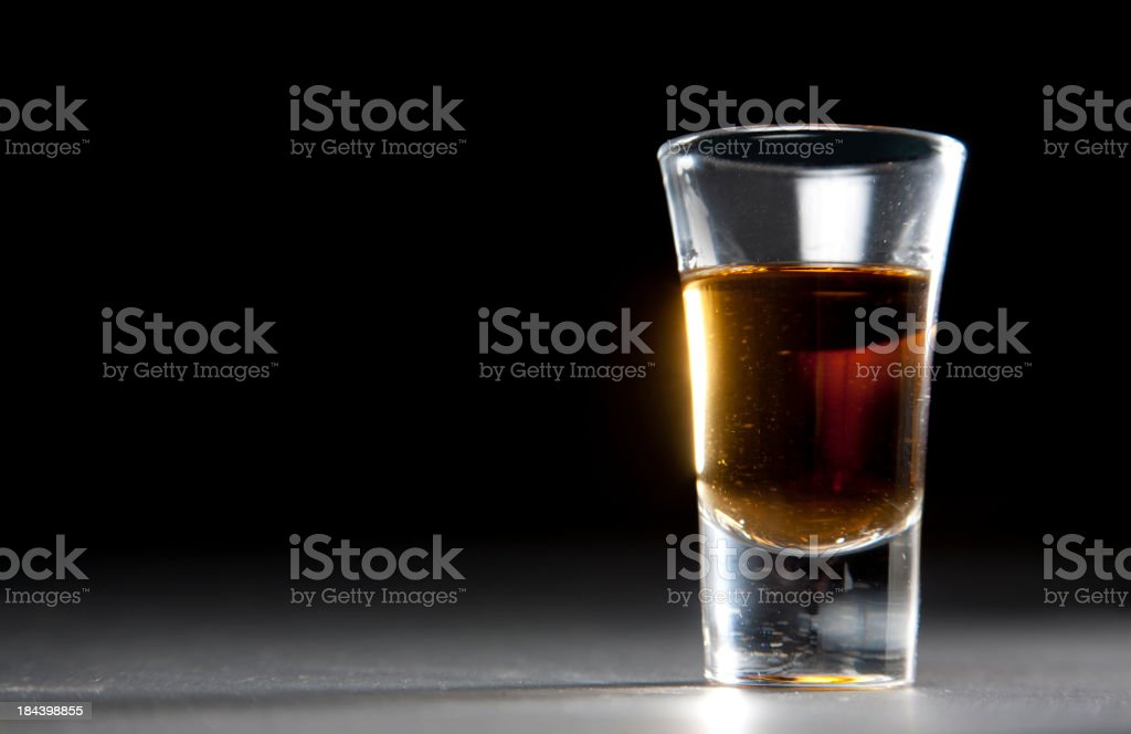 Shot of Whiskey stock photo
