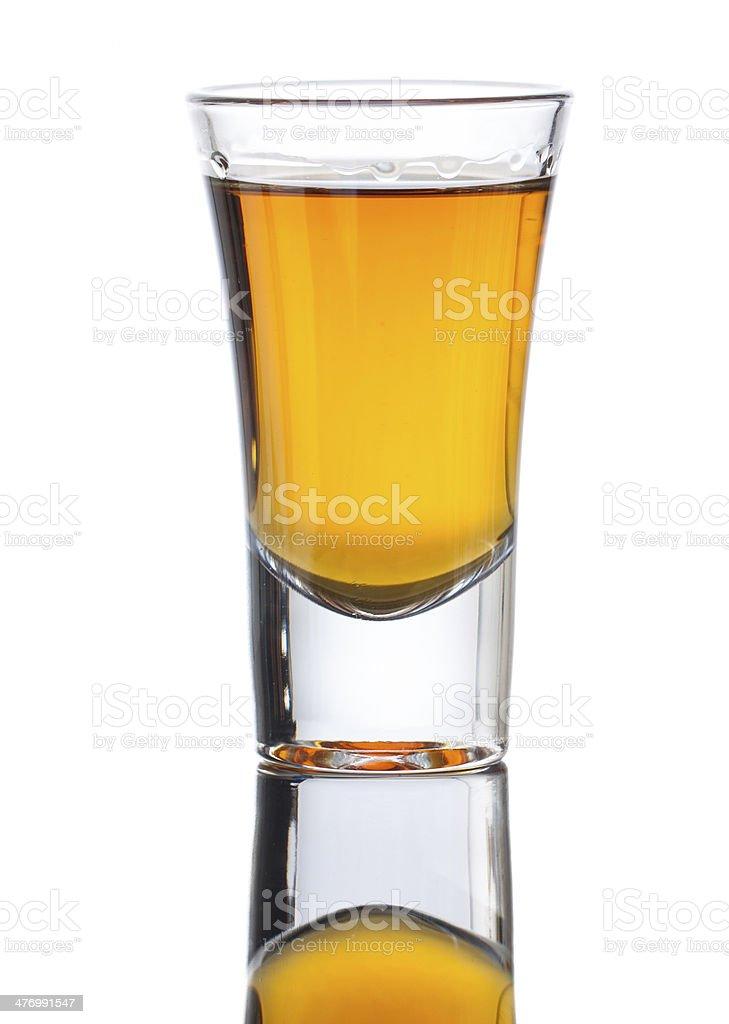 Shot of whiskey stock photo