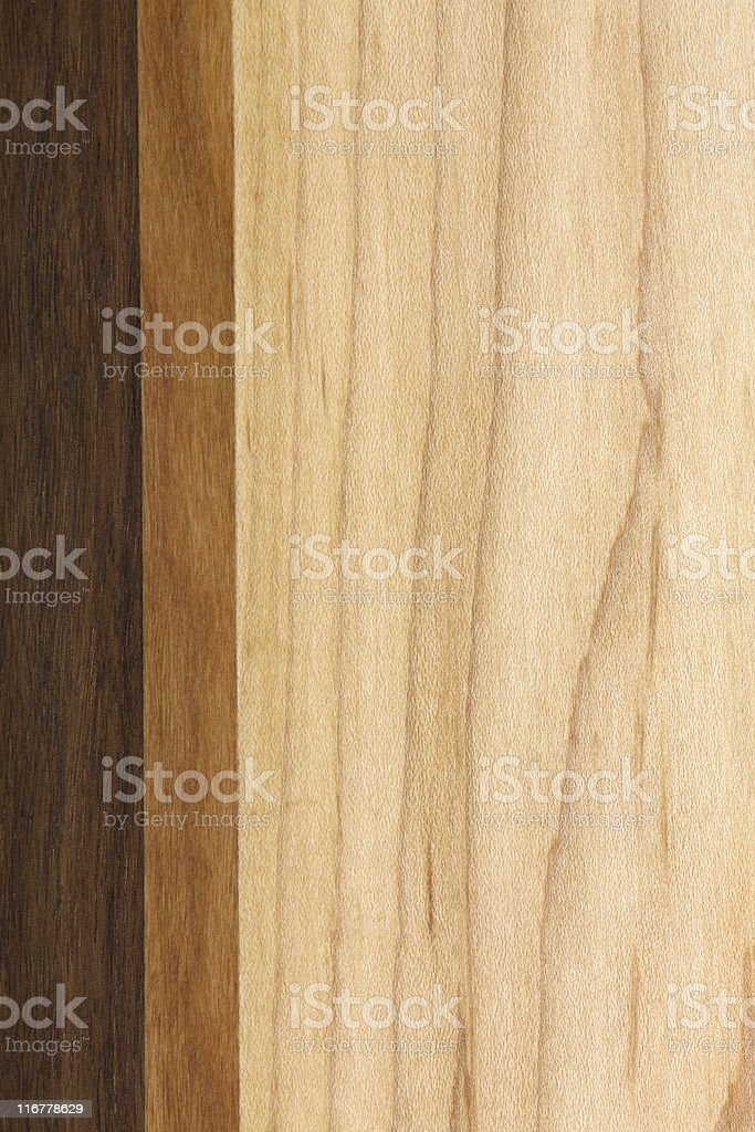 Shot of wooden piece with differing shades intact royalty-free stock photo
