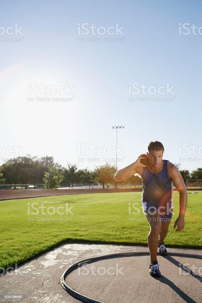 Shot putter stock photo