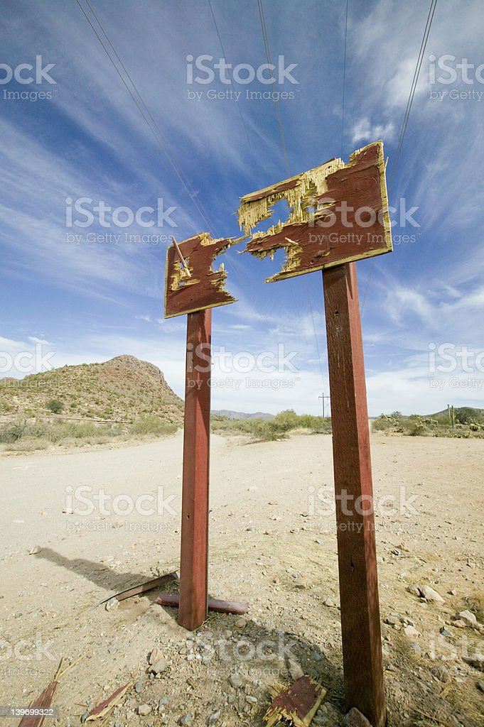 Shot sign royalty-free stock photo