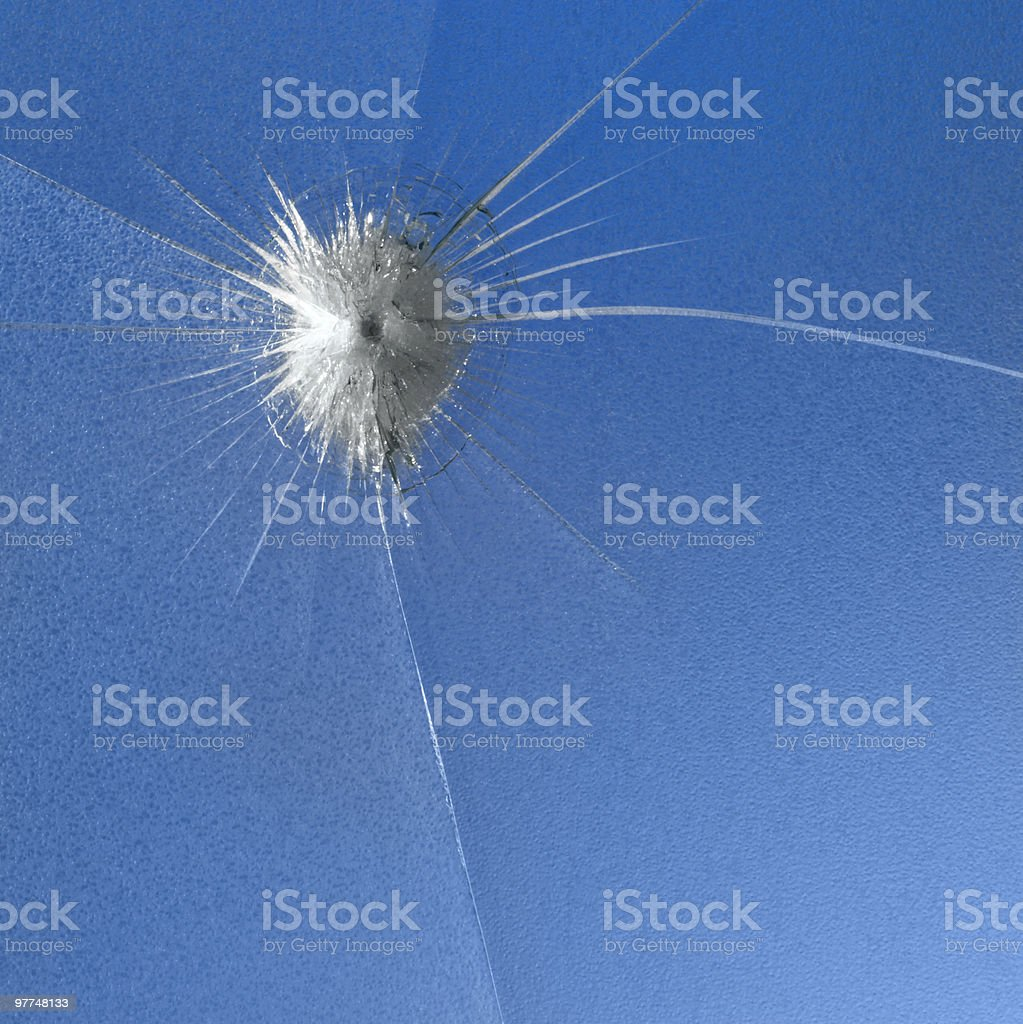 shot through glass royalty-free stock photo