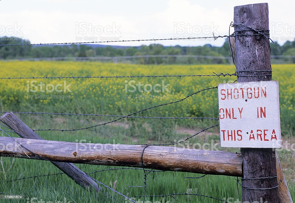 Shotgun only area and oil rapeseed royalty-free stock photo
