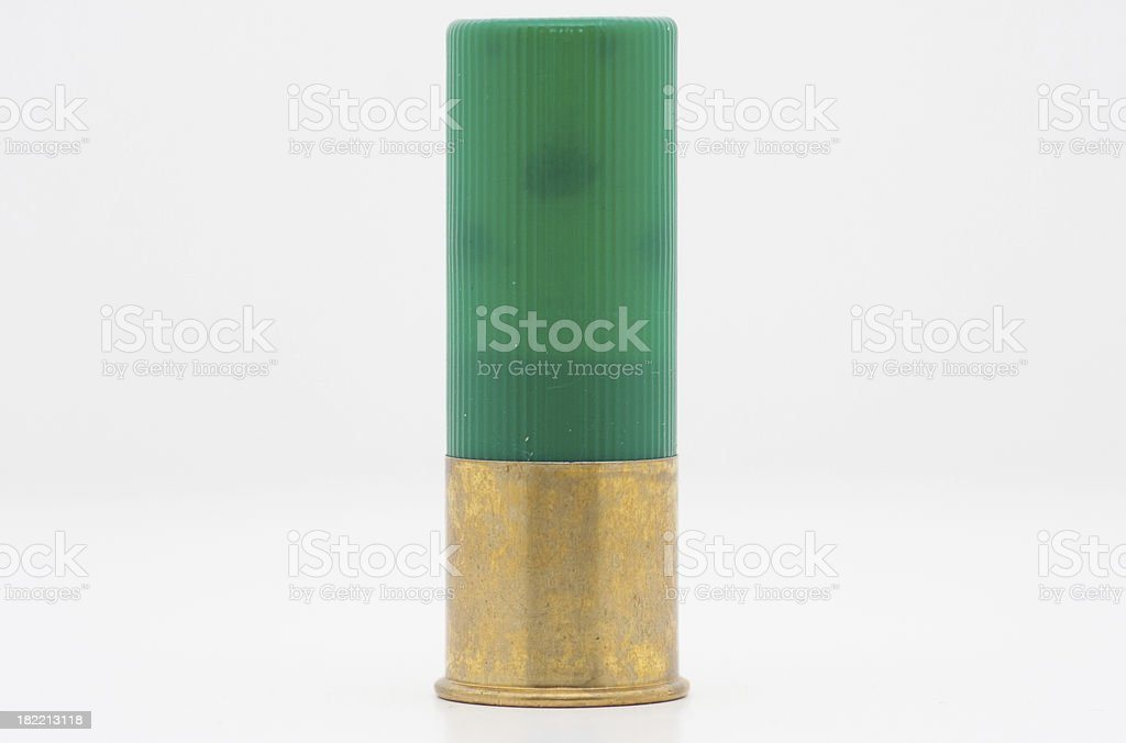 Shotgun Shell  Isolation stock photo