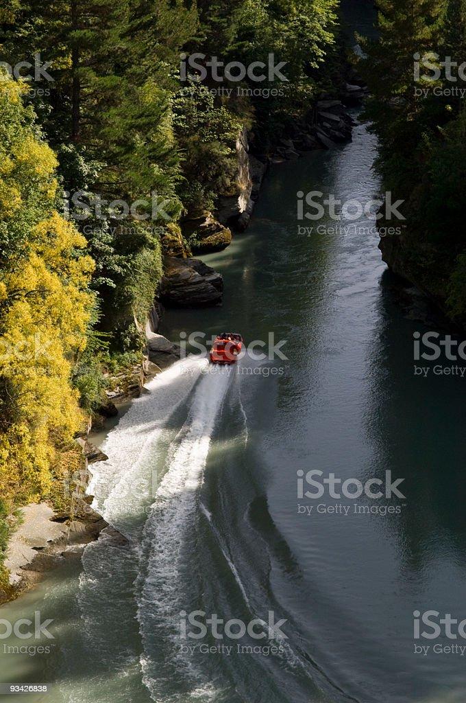Shotover Jet Boat stock photo