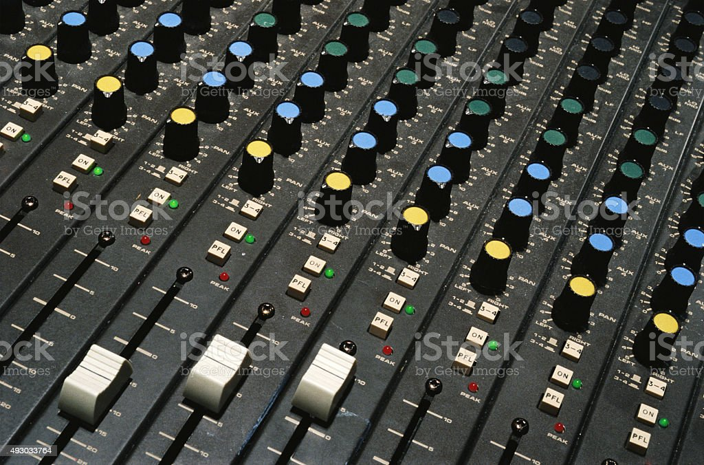 Shots of Sound Mixing console stock photo