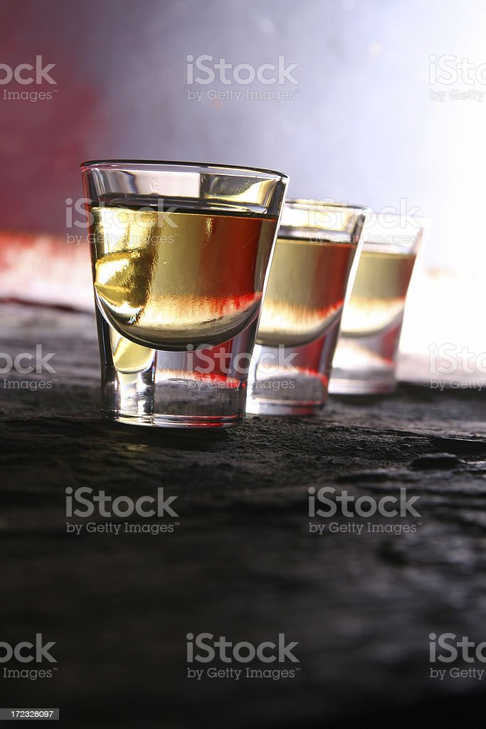 Shots of Whiskey royalty-free stock photo