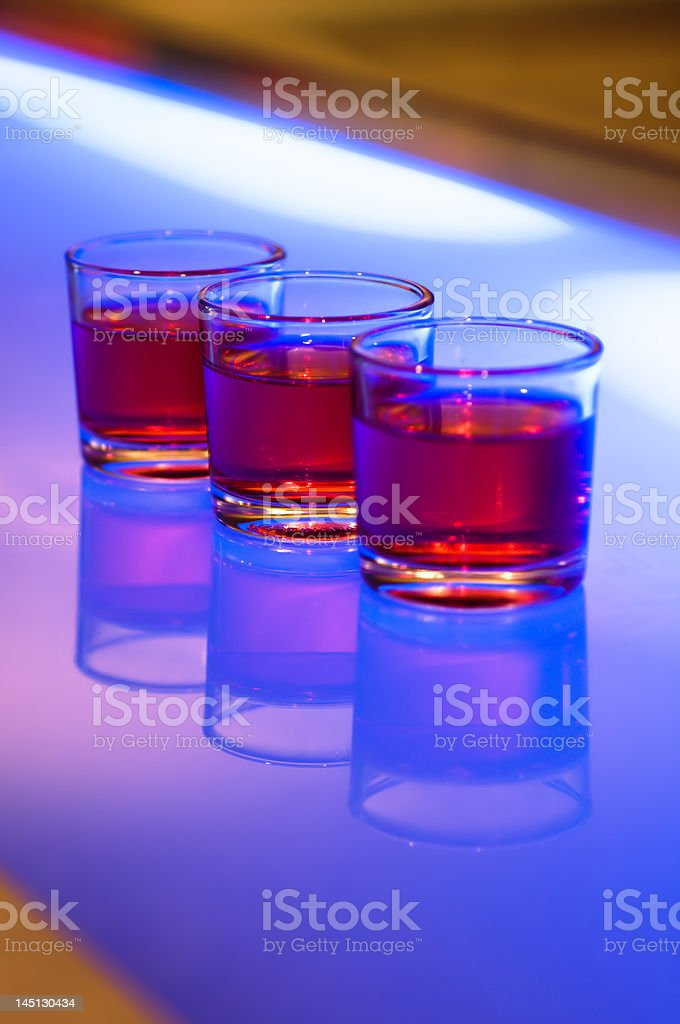 Shots on a bar royalty-free stock photo