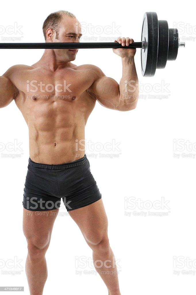 Shoulder exercise royalty-free stock photo