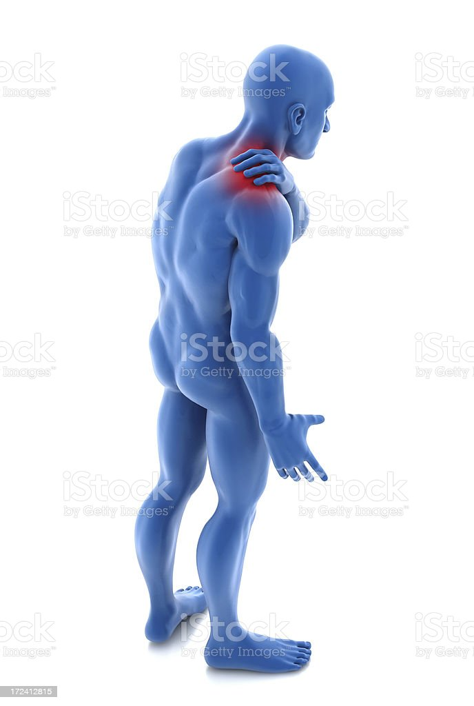 Shoulder pain royalty-free stock photo