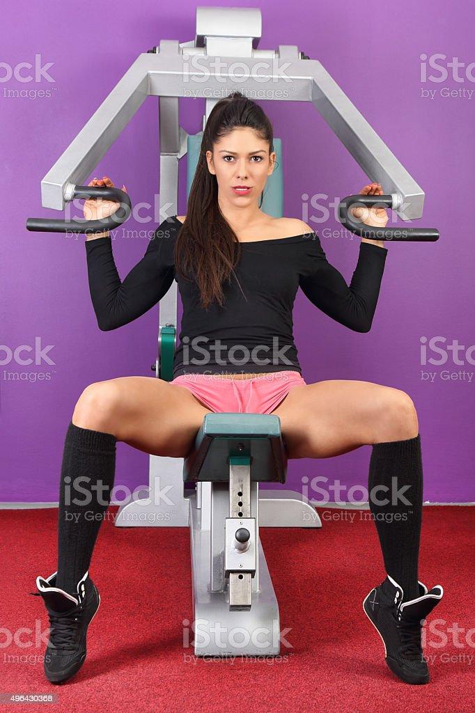 Shoulder press stock photo