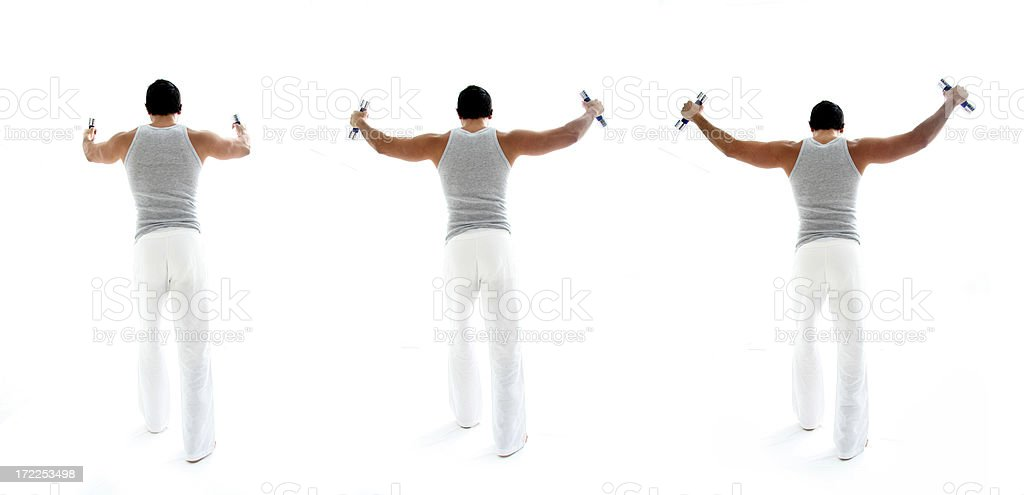 Shoulders Exercise royalty-free stock photo