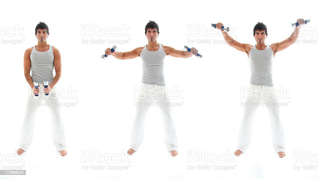 Shoulders Exercise stock photo