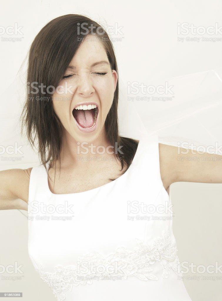 Shout for Joy royalty-free stock photo