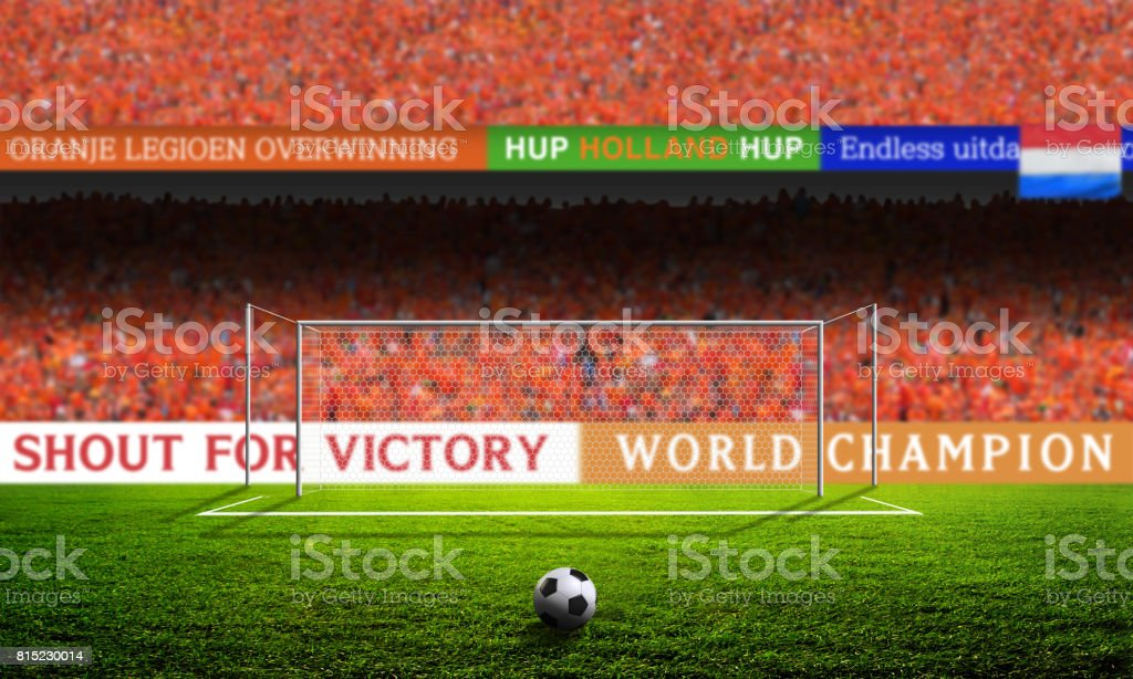 Shout for Victory - HOLLAND stock photo