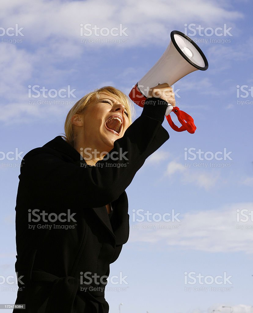 Shout! royalty-free stock photo