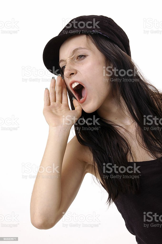shout royalty-free stock photo