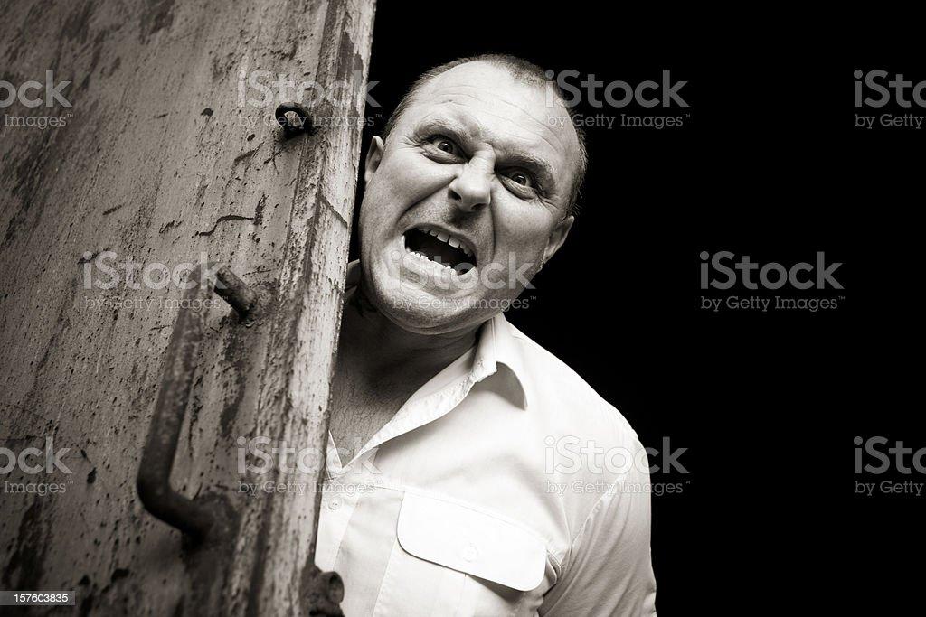 Shouting angry man stock photo