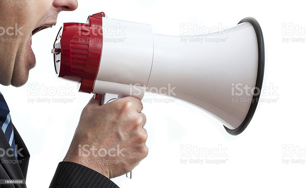 Shouting businessman royalty-free stock photo