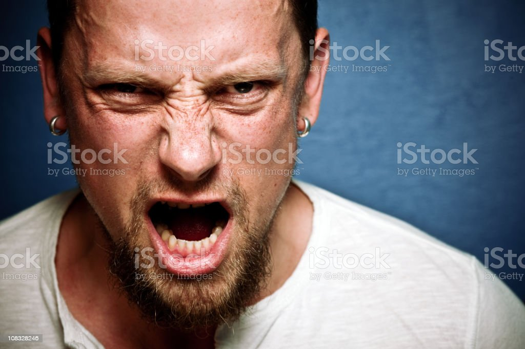 Shouting male stock photo