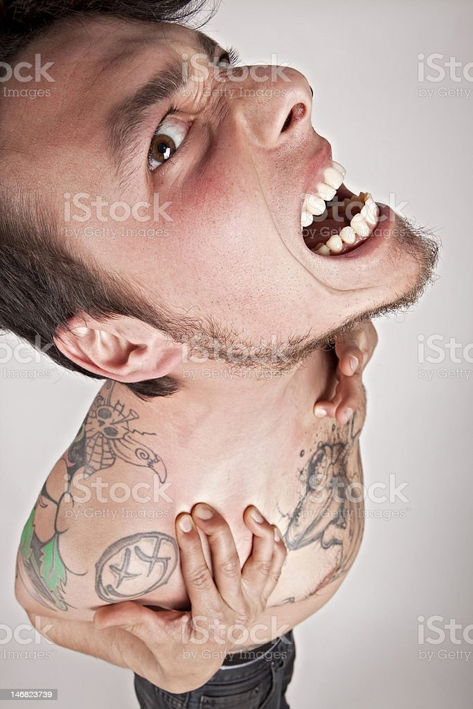 Shouting Male royalty-free stock photo
