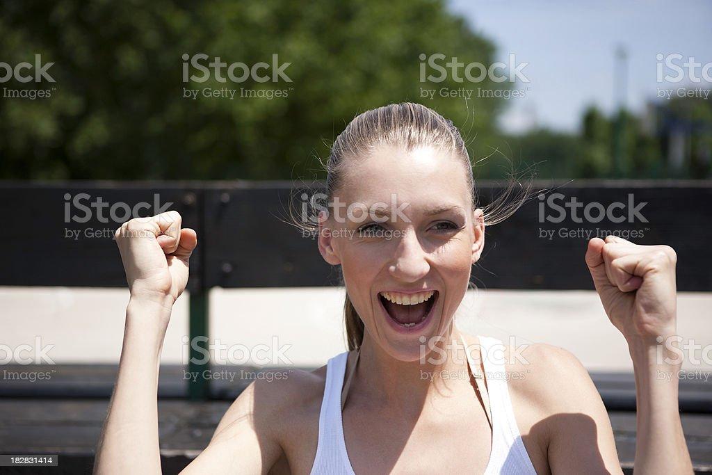 Shouting royalty-free stock photo