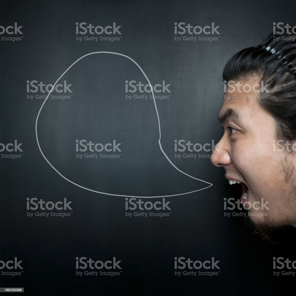 Shouting royalty-free stock photo